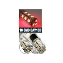 LED BAY15D 18 SMD Remlicht rood 12V