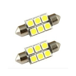 LED festoon  6 SMD 36mm wit
