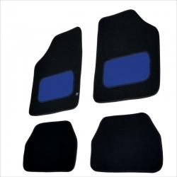 Automatten set zwart met Blauw leer.