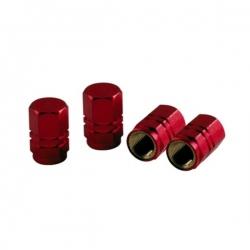 Aluminium ventieldoppen set 4 stuks rood