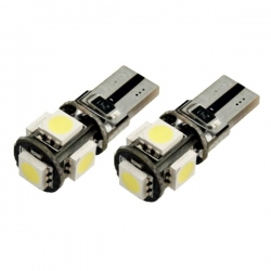 T10 Canbus 5 SMD W5W 12V Wit