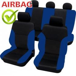 Autostoelhoes Zwart Blauw  met zij-airbag
