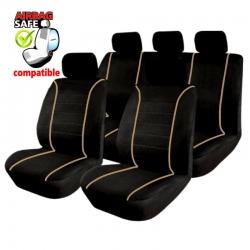 Autostoelhoes Zwart -beige met zij-airbag