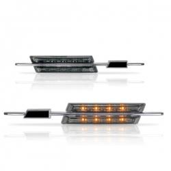 Chromen Led zij-knipperlichten wit glas BMW E90/ E91/ E92/E93