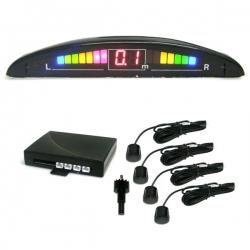 Parkeersensor Zwart met 4 Sensoren Optische- & Akustische signaal