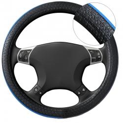 Stuurhoes zwart-blauw 37-39 cm met anti slip grip.