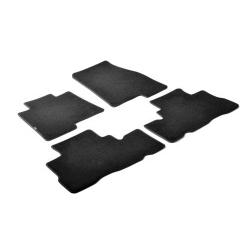 Velours Automatten set zwart  voor  Mercedes B-Klasse 10-2011 t/m 11-2014