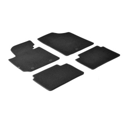 Velours Automatten set zwart  voor  Bmw 3 er 4p (F30)  02-2012+