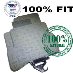 Pasvorm Rubberen Automatten SEAT LEON HB 2006-2012 Grijs