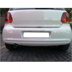 Chromen RVS kofferbak strip VW Polo 5