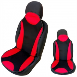 Auto zitkussen rood-zwart