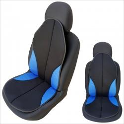 Auto zitkussen zwart-blauw