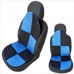 Auto zitkussen blauw - zwart