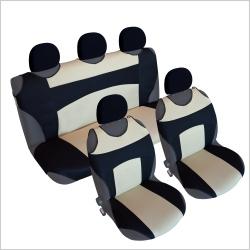 Autostoel T-shirt  Zwart Beige.