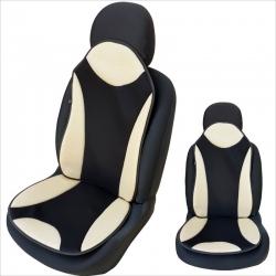 Auto zitkussen beige-zwart