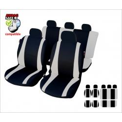 Autostoelhoes Zwart Grijs met zijairbag