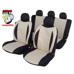 Autostoelhoes Beige - Zwart met zijairbag