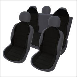 Autostoelkussen zwart  3 delig nieuwe design