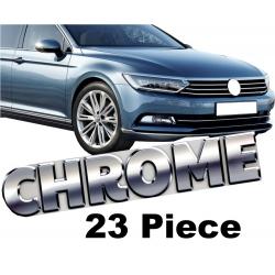 Chromen 23 delig sierlijsten  VW Passat B8 bj. 2015+