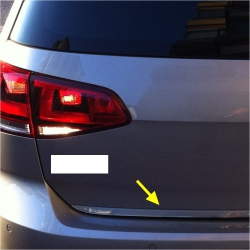 Chromen RVS kofferbak strip VW Golf 6
