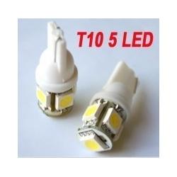 T10 stadslicht 5 SMD LED W5W T10 12V Wit